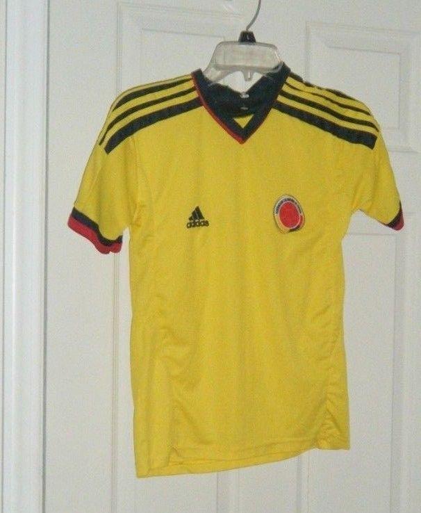 590308403ca2e Columbia Home Soccer Jersey Adidas Yellow Youth Kids Medium Used ...
