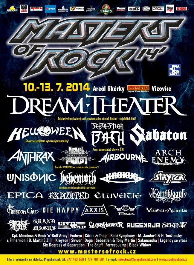 #masters of rock #vizovice #rock festival