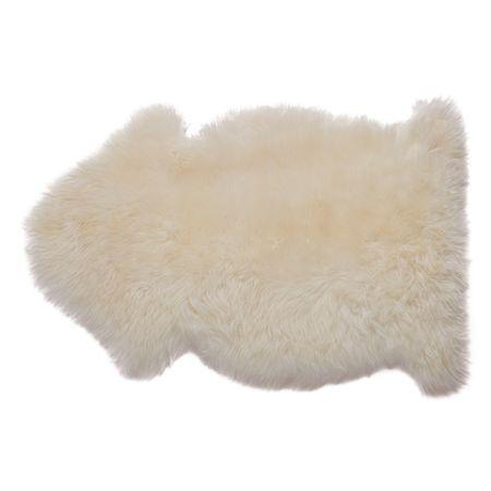 Rug Sheepskin Long Wool Ivory