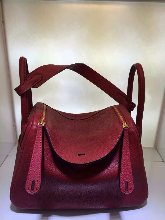 Hermes Mini Lindy Bag 26CM in Ruby Togo Leather