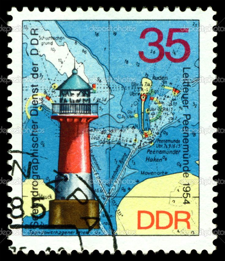 Vintage postage stamp, Lighthouse ->  more  -->>  table  --->>>  @Pharos