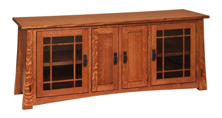 "Amish 72"" Montana Mission TV Stand Show off your flat screen in style with the spacious 72"" Montana Mission TV Stand exhibiting lovely mission style furniture for your living room, family room or bedroom."