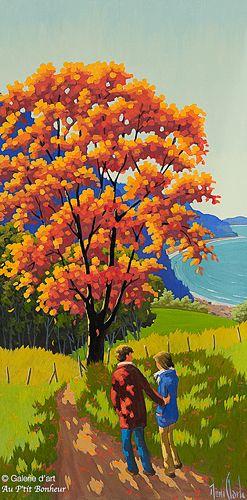 Rémi Clark, 'L'arbre des beaux jours', 20'' x 40''   Galerie d'art - Au P'tit Bonheur - Art Gallery