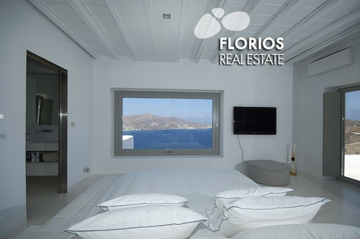 The residence features Satellite TV, Wi-Fi (covering the hall area), in floor heating (warm and cold), air condition in 3 bedrooms, Stereo in all seating areas (indoor/outdoor). Luxurious Villa for Sale with extraordinary sea view, in Ftelia, Mykonos island, Greece. FL1467 http://www.florios.gr/en/mykonos-property/24.html