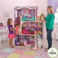 Самый большой дом для кукол 40-46 сантиметров Элегантное поместье (Elegant) с мебелью