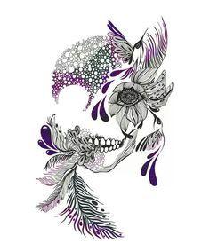 I love this. I wasn't into skulls until I saw this. So feminine! So pretty! Thinking on it...