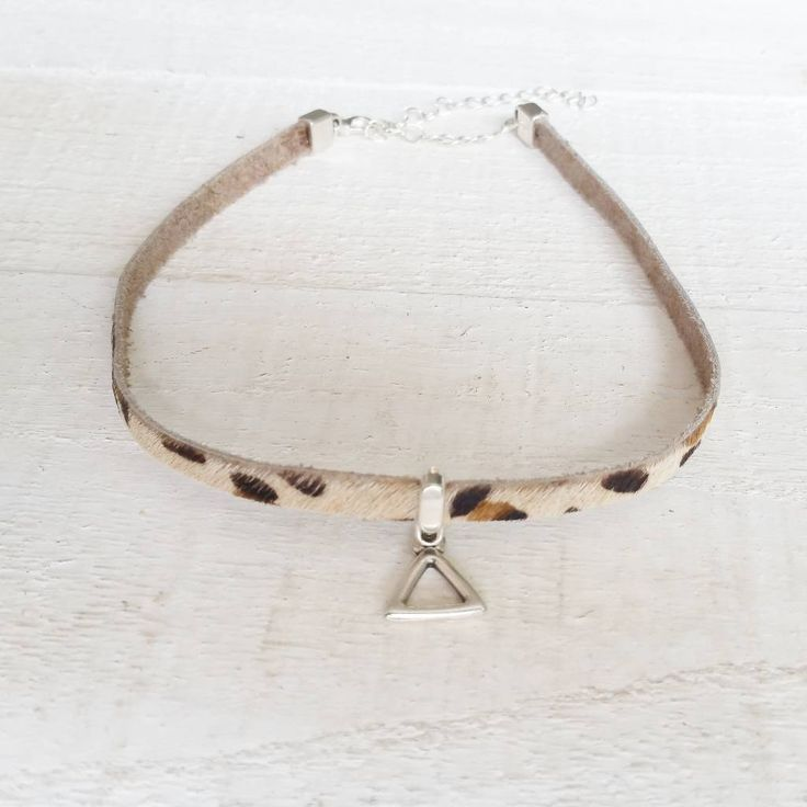 Lovely choker made from design quality leather and nickelfree parts