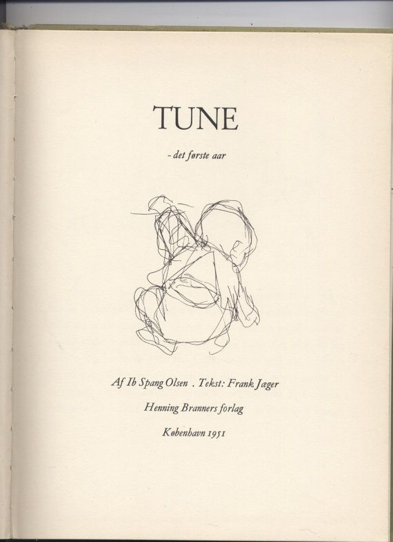 Tune by Frank Jaeger and Ib Spang Olsen RARE BOOK by tibooks
