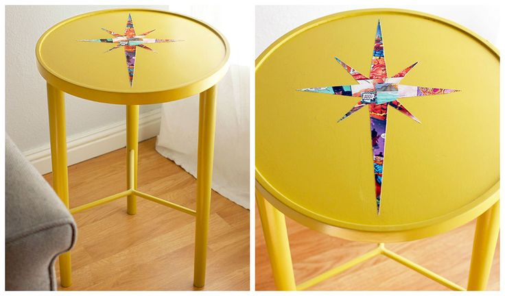 Kathleen and Charlie LOOKIT THIS BLOG OMG. DIY Mid Century Inspired Table, Comic Book Style