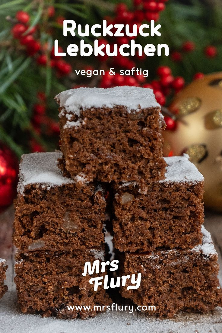 Gesunder Lebkuchen vom Veganer #mrsflury Mrs. Flury Luck Lebkuchen, vega …   – Backen macht Mama & Kinder glücklich
