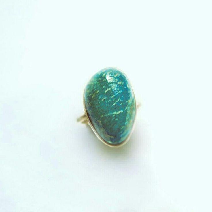 """#jewelrydesigner #ring#handmade #jewlery #nickelsilver#stone #amazonitestone#σχεδιοκοσμηματος…"""