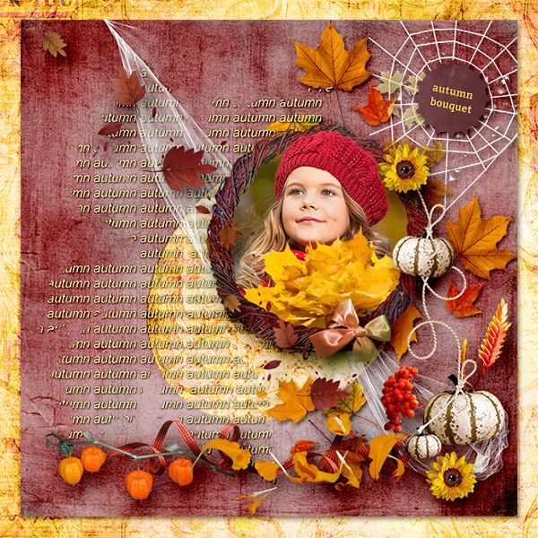 Layout by sarkavka. Kit: Autumn Bouquet by Graphic Creations http://scrapbird.com/designers-c-73/d-j-c-73_515/graphic-creations-c-73_515_556/autumn-bouquet-by-graphic-creations-p-18307.html