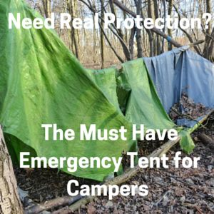 Emergency Survival Tent for Hikers and Campers. You don't want to end up with a having to build a shelter like this when you are in trouble. Be sure to pack a lightweight  emergency survival tent...