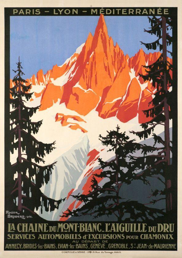 Chamonix, La chaîne du Mont-Blanc - L'Aiguille du Dru PLM