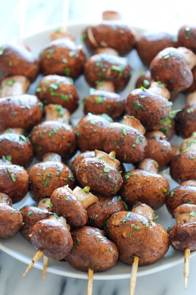 Garlic Mushroom Kebabs | 15 Vegetarian Recipes For The Ultimate Australia Day BBQ