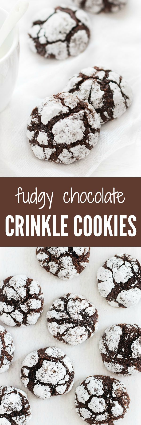 Crunchy on the outside and super fudgy on the inside, these crinkle cookies are a chocolate lover's dream.