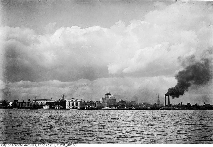 Throwback Thursday: Here's the Toronto skyline circa 1919. My how we've grown! Pic courtesy of the Toronto Archives.