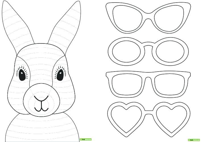 paper bag puppets guide patterns rabbit craft template