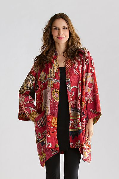 Two-Layer A-Line Jacket by Mieko Mintz null: Cotton Jacket available at www.artfulhome.com