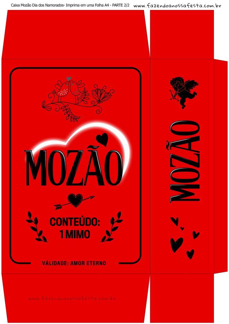 Caixa Presente Dia dos Namorados - Parte 1 - Vermelho