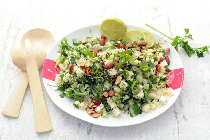 Kijk wat een lekker recept ik heb gevonden op Allerhande! Couscous met groene kruiden en witte kaas