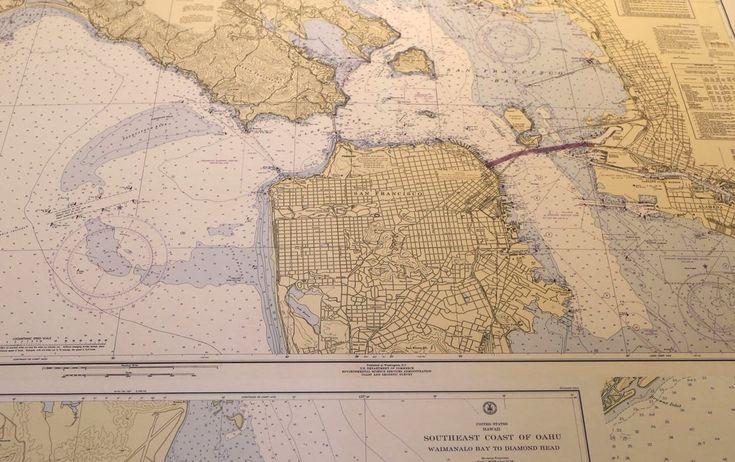 Nautical Chart Wallpaper at Mapisart World Headquarters
