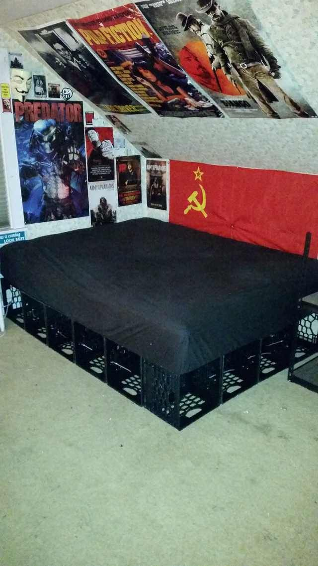 Milk Crate Bed Crate Bed Milk Crates Milk Crate Furniture