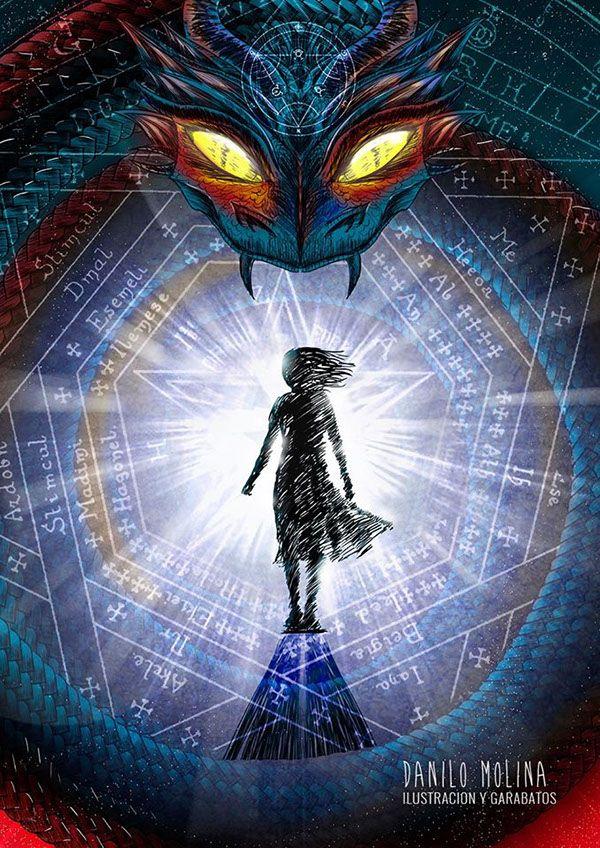 Ilustración para cuento de la revista Relatos Increibles.  #sorcerer #magic #demon #wacom #illustracion