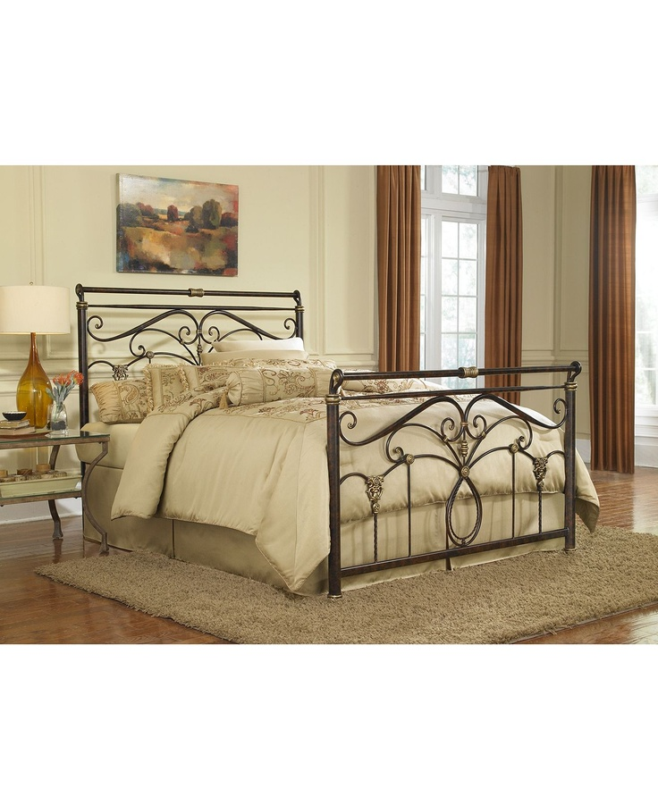 Ellison Marbled Russet California King Bed, Metal Bed