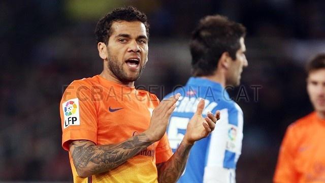 Alves, FC Barcelona | Real Sociedad 3-2 FC Barcelona. [19.01.13]