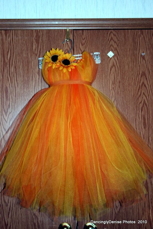 Fall tutu dress for an Autumn Princess