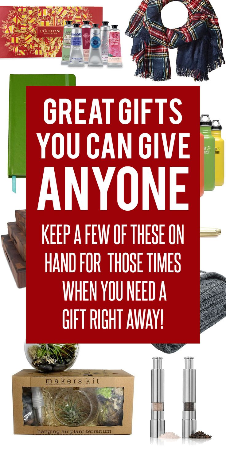 Gift ideas that work for anyone! Teachers, friends, those hard to buy for gift recipients. Keep a few on hand for those surprise or last minute gifts you need. Great Christmas gift ideas.