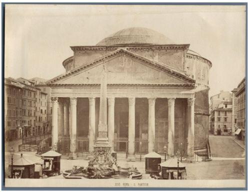 Italie-Roma-Il-Panteon-Vintage-albumen-print-Tirage-albumine-18x24-C