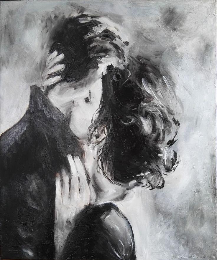 Поцелуй, 50х60см, картина маслом на холсте, вл…