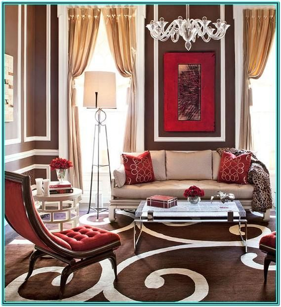 In the living room, red can play an array of different roles—acting as a vivid pop of color, adding weighty vibrance to the space, or most daringly, serving as the base of a room's entire palette. Red And Brown Living Room Decorating Ideas   Brown living ...