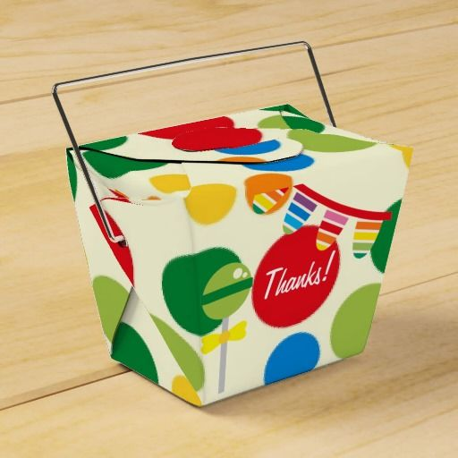 Rainbow Candy Party Personalized Party Favor Box