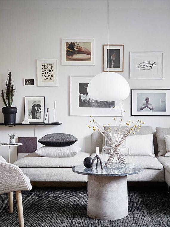 Scandinavian living room. Styling by Joanna Bagge, photo by Jonas Berg via Stadshem