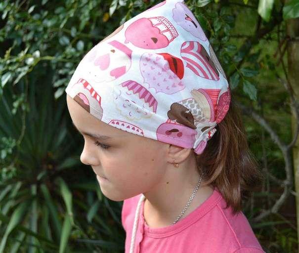 Широкая повязка на голову летняя 4