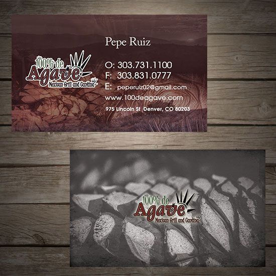92 best business card ideas images on pinterest corporate identity local restaurant business card concept 1 de agave colourmoves Images