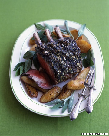 Grass-fed Prime Rib and Oven-Roasted Potatoes with Bay Leaves and Sage