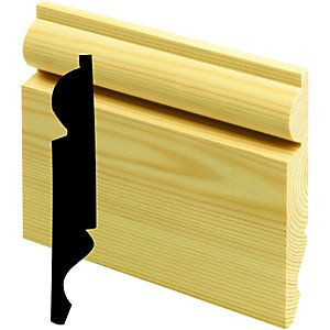2 packs...£55.39) for whole room Wickes Dual Purpose Pine Torus/Ogee Skirting 19x167x3600mm Pack 2