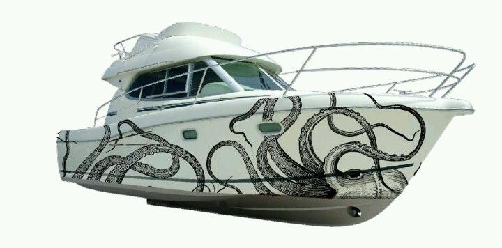 Boat wrapping by letscover.com