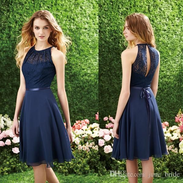 short-navy-blue-bridesmaid-dress-halter-high