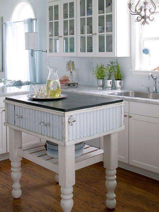 Small space kitchen island ideas - Small kitchen island table ...