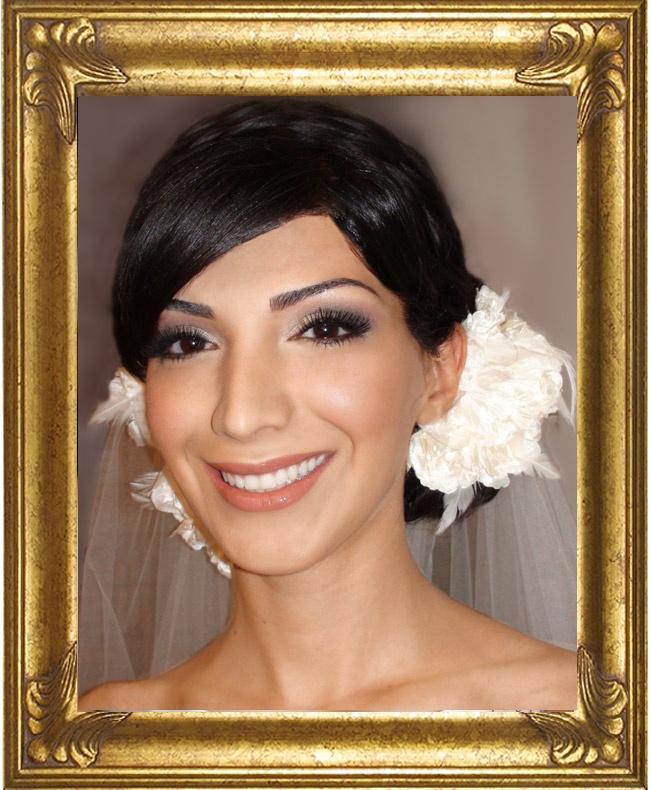 #Kim Kardashian wedding makeup, #Smokey eyes wedding, dramatic wedding makeup   by Toronto makeup artist Colette