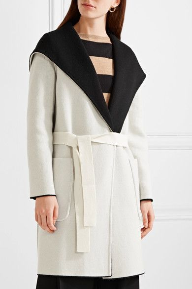 Max Mara - Reversible Hooded Wool Coat - Black