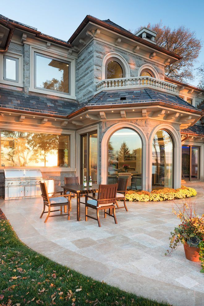 castle style homes exterior traditional with arched doorways victorian outdoor pub and bistro sets