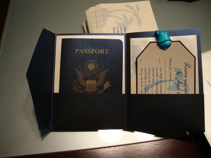 Wedding Invitation Ideas Pinterest: DIY Passport Invitations