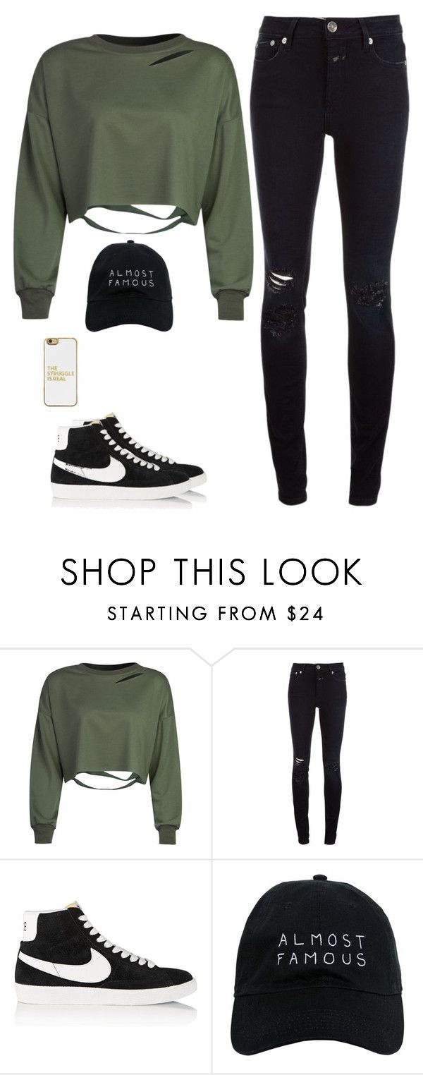 """Unbenannt #4284"" by hitthisfeeling ❤ liked on Polyvore featuring WithChic, Closed, NIKE, Nasaseasons and BaubleBar"