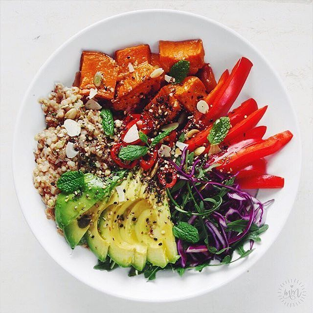 The Ultimate Salad and the ultimate Wonder Woman. Here's a rainbow abundance bowl and throwback to the last #IQS8WP from @missmarzipancom.   I'm trying to Pin It To Win It! To guarantee a spot on the next I Quit Sugar Program, CLICK THIS IMAGE. To participate in this P